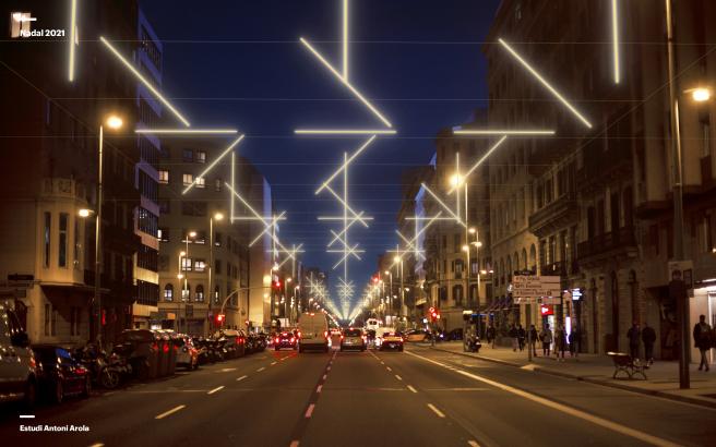 Barcelona julkisti jo tulevan joulun valojen designit
