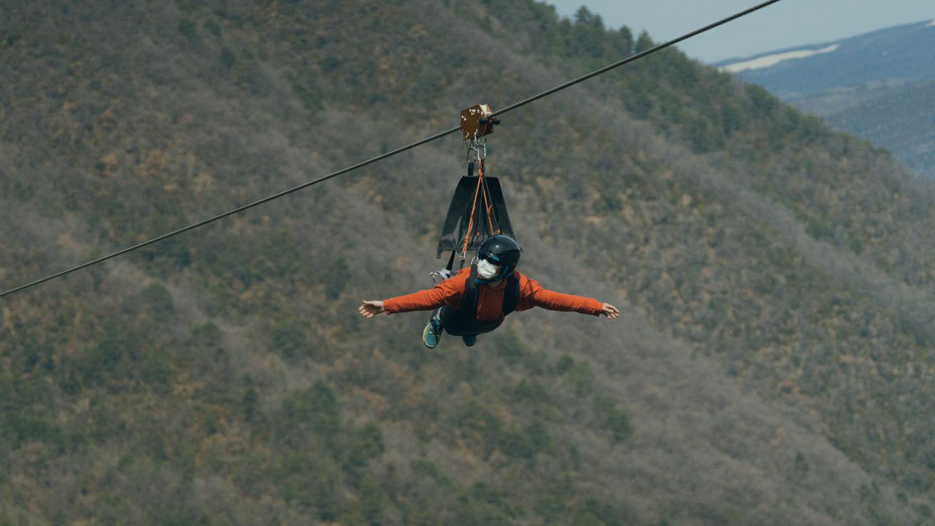 Espanjan korkein zipline-vaijeriliuku rikkoi maailmanennätyksen