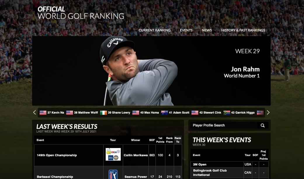 Espanjalaispelaaja nousi golfin maailman ykköseksi